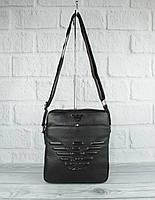 Сумка средняя мужская Giorgio Armani 66262-9 черная, искусственная кожа, фото 1