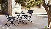 Комплект садовой мебели стол Maya и стульчики Linda Black из металла
