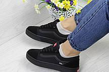 Женские кеды Vans,черные, фото 3