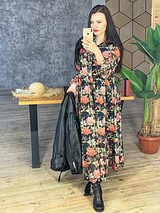 Красивое женское длинное платье из шифона 42-46 р
