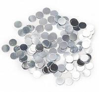 Конфетти кружочки серебро 25мм 10грамм