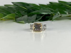Мужское Серебряное Кольцо с камнем Галиотис