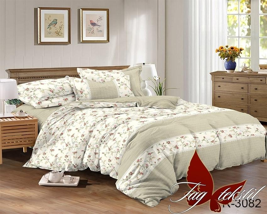 Евро комплект постельного белья - ранфорс R3082