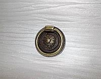 Ручка откидное кольцо K-132 G4 БРОНЗА, фото 1