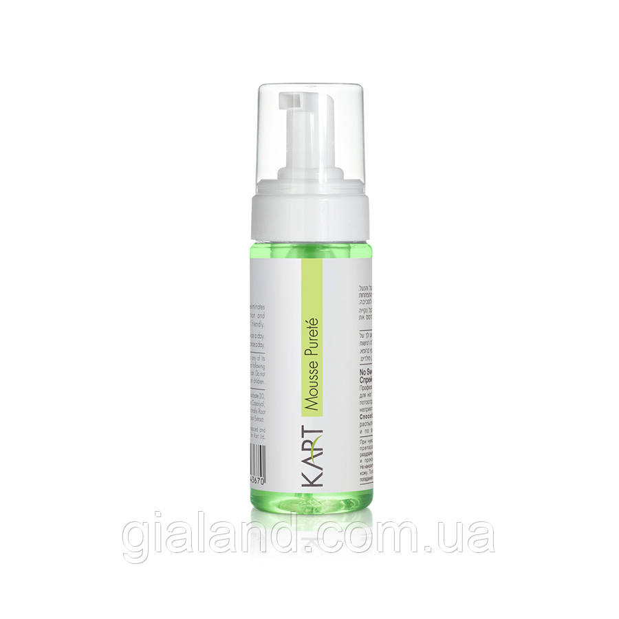 Очищаючий мус для жирної шкіри KART Clear & Matte Mousse Purete 150мл