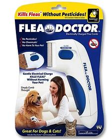 Электрическая расческа для животных Flea Doctor с функцией уничтожения блох!