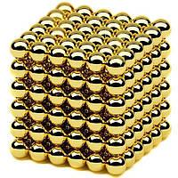 Нео Куб 5мм золотой, Магнитные шарики, Магнитный неокуб, Головоломка