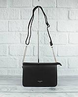 Модная сумочка, клатч через плечо David Jones 5318 черный, фото 1