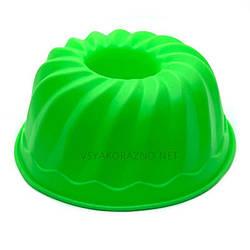 Силиконовая форма для выпечки / Силіконова форма для випічки (Пудинг, большой) зеленый