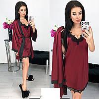 Комплект жіночий халат з пеньюаром