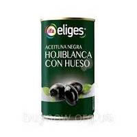 Оливки чорні з кісточкою Hojiblanca con Hueso Eliges 350г Іспанія