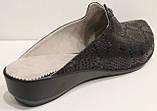Сабо женские великаны кожаные черные от производителя модель МИ13337-3, фото 6