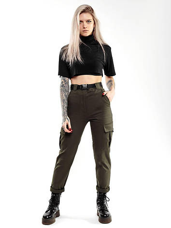 Карго брюки женские BEZET Xena khaki'20 - L, фото 2