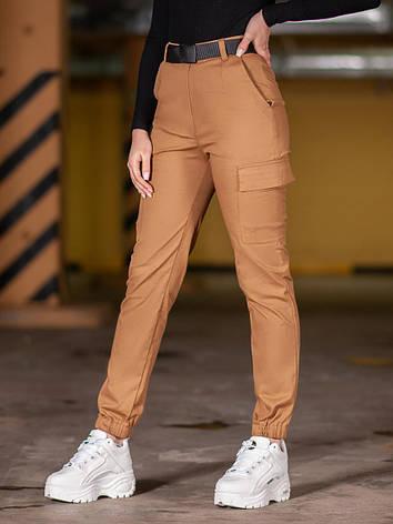 Карго брюки женские BEZET Eva brown'20 - XS, фото 2