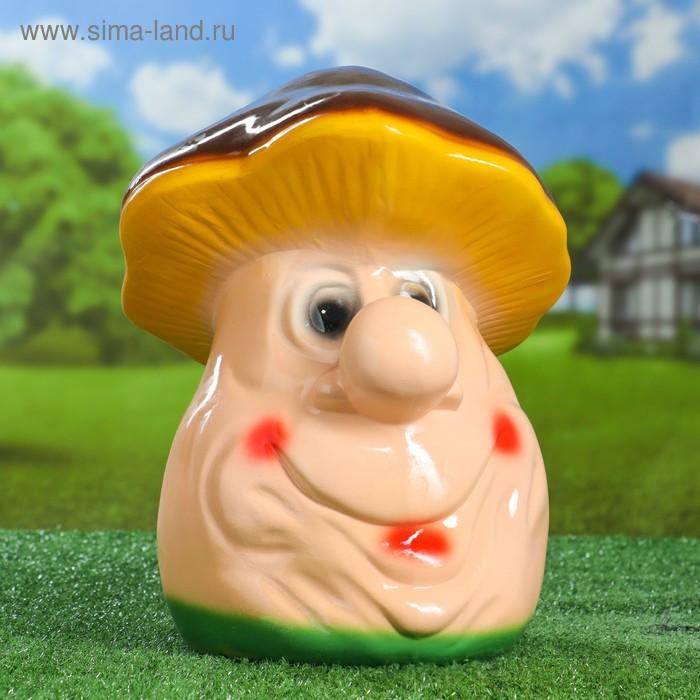 Садовая фигура Добрый гриб керамика 32 см