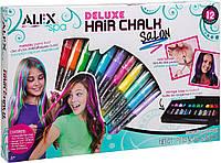 Мел для волос мелки карандаши  в кейсе Alex Spa Deluxe Hair Chalk Salon Girls