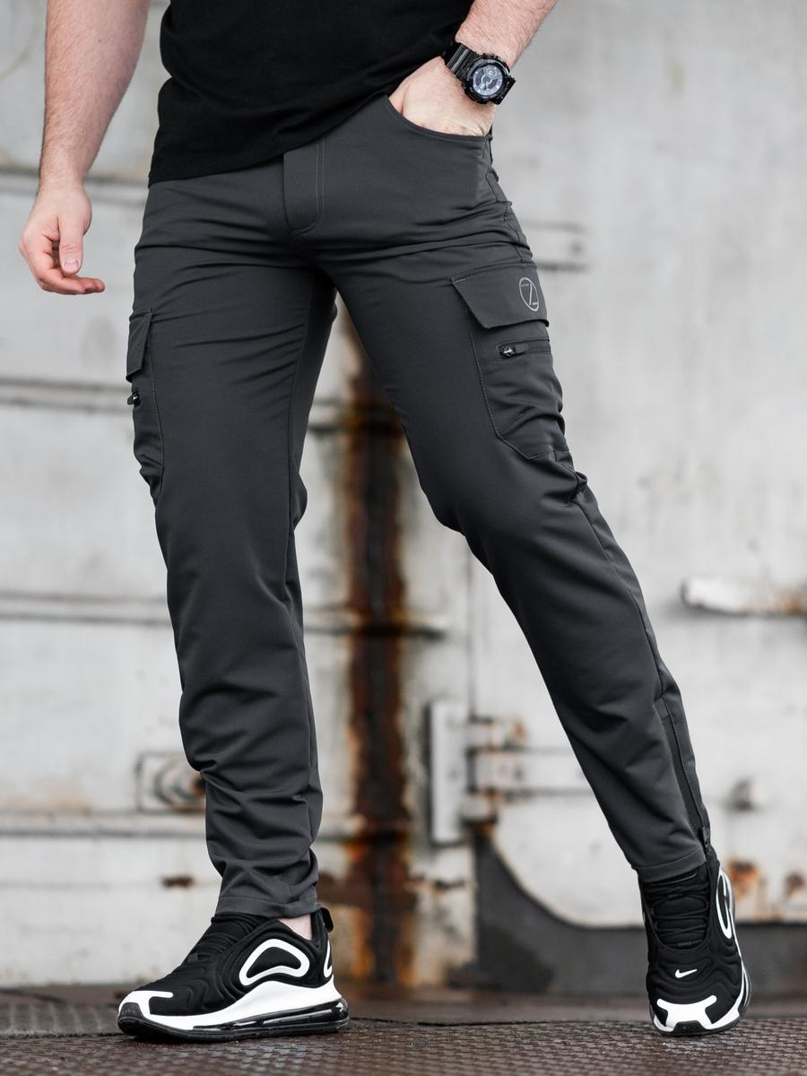 Карго брюки BEZET Comfort dark grey'20 - L