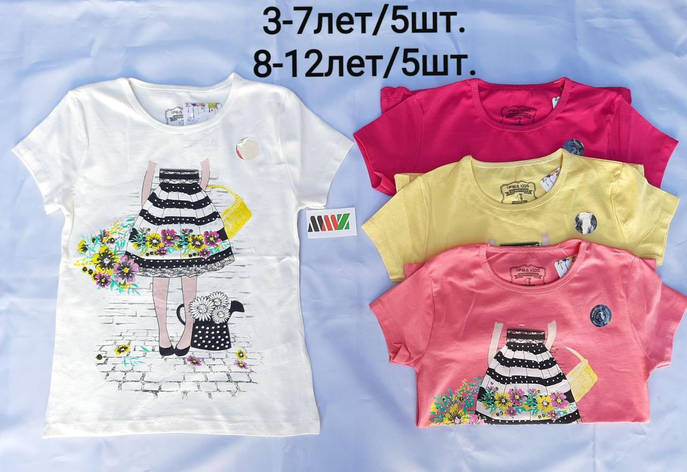 Детская футболка для девочки р. 3-7 лет, фото 2