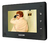 Видеодомофон  KOCOM KCV-A374 BLACK / WHITE (без узора на корпусе)