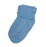 Тонкі шкарпетки з підворотом для новонароджених (блакитний колір)
