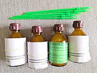УПС, Биогель для маникюра и педикюра, 50 мл, 4 шт + КИСТОЧКИ ТОНКИЕ 4 шт (комплект)