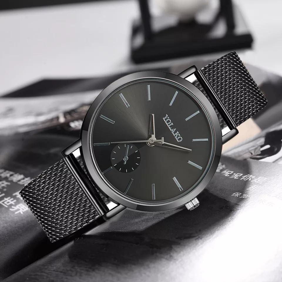 Жіночі наручні годинники Yolako чорні кварцові
