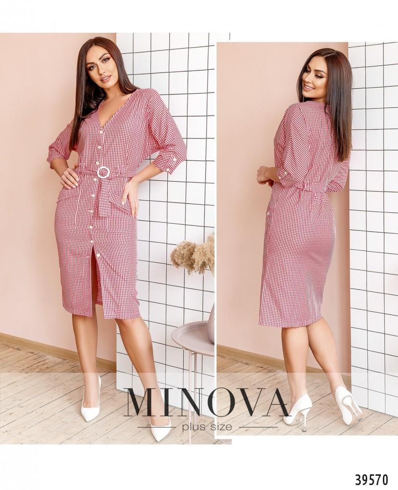Модное женское  летнее платье-халат  больших размеров 48-58 в 3-х расцветках