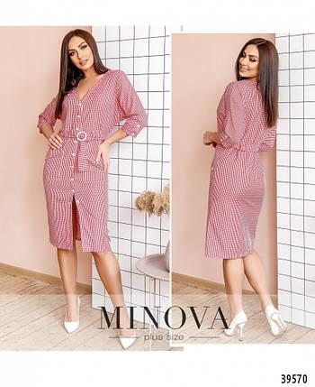 Модное женское  летнее платье-халат  больших размеров 48-58 в 3-х расцветках, фото 2