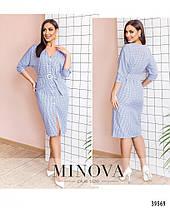 Модное женское  летнее платье-халат  больших размеров 48-58 в 3-х расцветках, фото 3