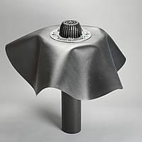 Воронка водосточна DN110,600мм с листоуловителем, с прижимным фланцем из нерж.стали,под битумную(ПВХ) мембрану