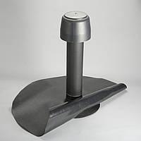 Дефлектор для плоских кровель DN110, 600мм с фартуком под (ПВХ) мембрану