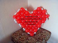 Валентинка из воздушных шаров на день святого Валентина