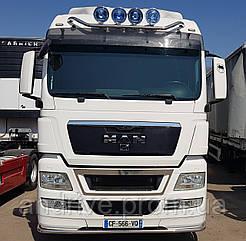 Защита переднего бампера (ус одинарный) MAN TGX Euro 5 2007-2012