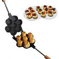 Форма для выпечки корзинок кексов и тарталеток с антипригарным / тефлоновым покрытием