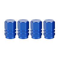 Колпачки на ниппель колеса (Синие) - 4шт/комплект, фото 1