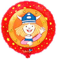 Гелієва куля фольга 45см 401562