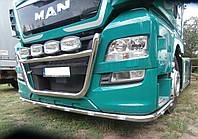 Защита переднего бампера (ус одинарный) MAN TGX Euro 6 2012-2017