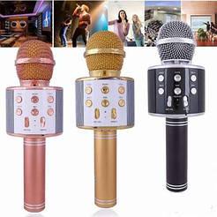 Беспроводной караоке микрофон Sirius 858 bluetooth, микрофон для караоке