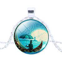 Подвеска лунный свет, море и лодочка