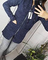 Кардиган ангоровый  светло-серый женский 42-54 размеры, фото 1