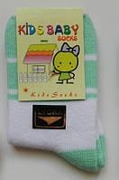 Тонкие носочки для новорожденных (белый/зелёный цвет)