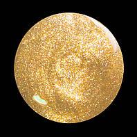 Шеллак Глобал № 113  10мл.  прозрачный с золотым микроблеском