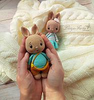 """Мягкие вязаные игрушки ручной работы """"Зайчики (Мальчик и Девочка)"""""""