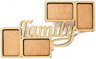 Заготовка для декорирования рамка Rosa Talent (МДФ) Family 50*30*0,6см