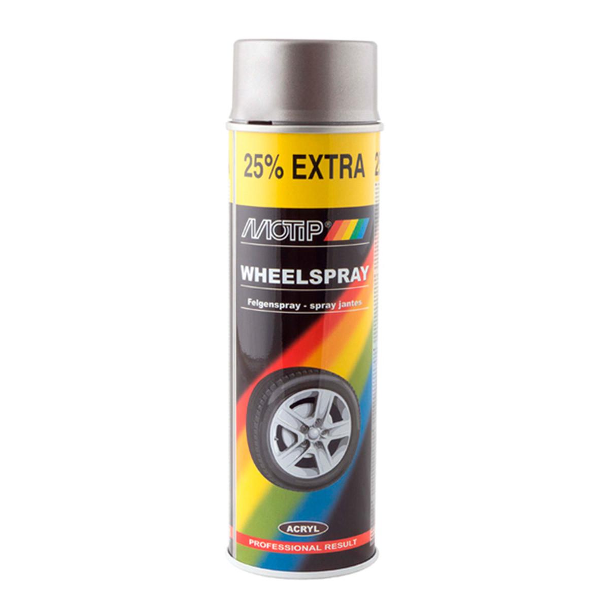 Краска для дисков сталь Motip 500мл
