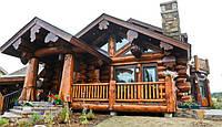 Деревянный дом. Строительство дикого сруба