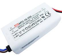 Блок живлення APC-16-350  драйвер світлодіодів 350ма 16 Вт MEAN WELL 4174