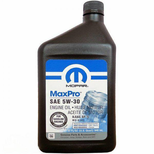 Моторное масло Mopar MaxPro 5W-30 0.946л (68218920AB)