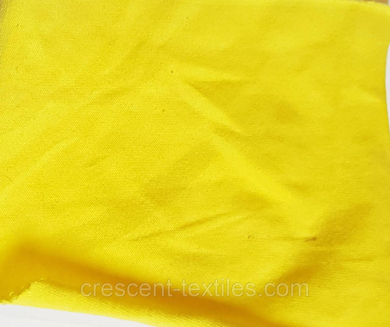 Трикотаж Хлопок  Кулир (Желтый)