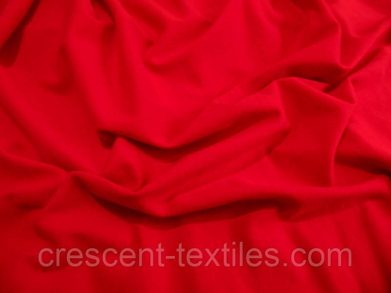 Трикотаж Хлопок  Кулир (Красный)